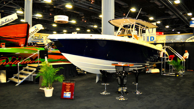 Statement 35 CC on display at the Miami Boat Show.