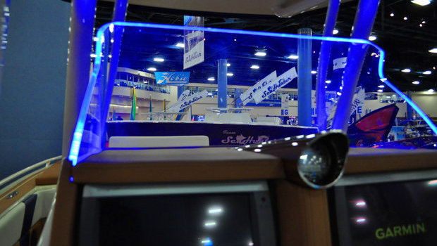 Statement's available LED windshield accent lighting.