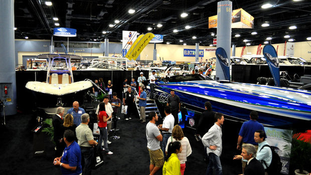 The Statement Marine booth enjoyed heavy traffic throughout the show.