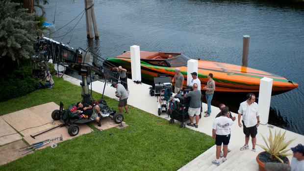 Statement 42' Ultimate on the set of Michael Bay's Pain & Gain in Miami.